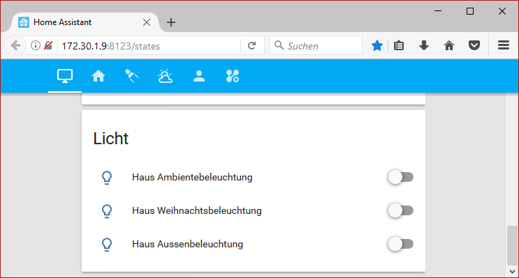 Home Assistant UI Switch