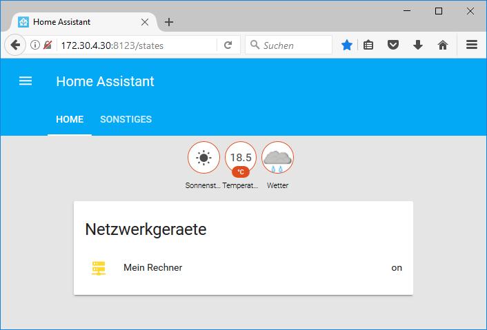 Netzwerkgeräte in Home Assistant